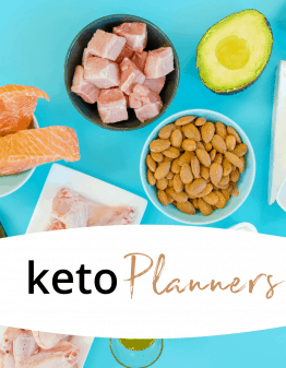 Mad Creations Keto Diet Planner & Tracker on blue background