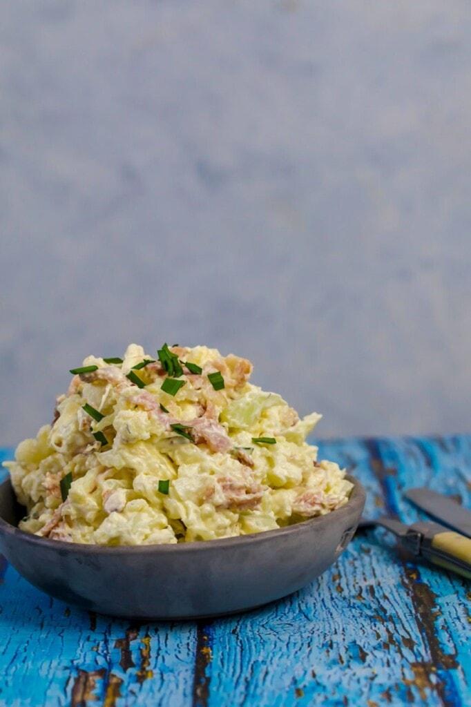 Massive bowl of keto potato salad / cauliflower salad