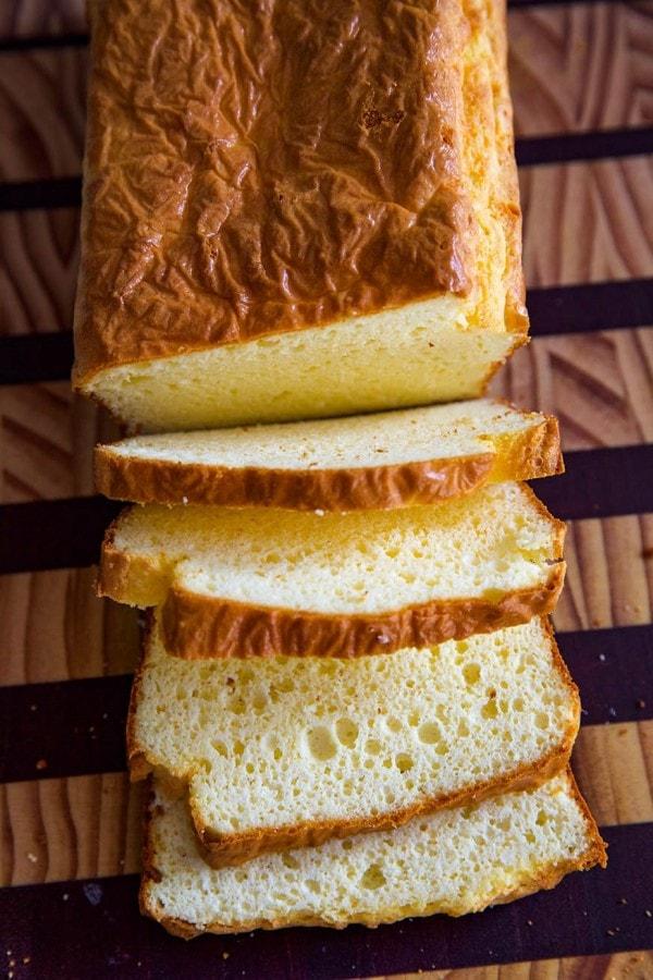 soul bread on a bread board