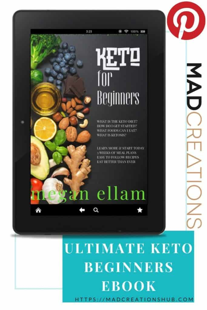 The Ultimate Keto For Beginners eBook cover