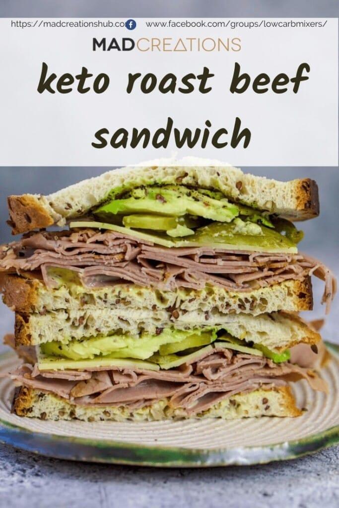 Roast beef sandwich Pinterest banner