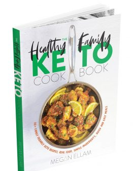 the healthy family keto cookbook cover