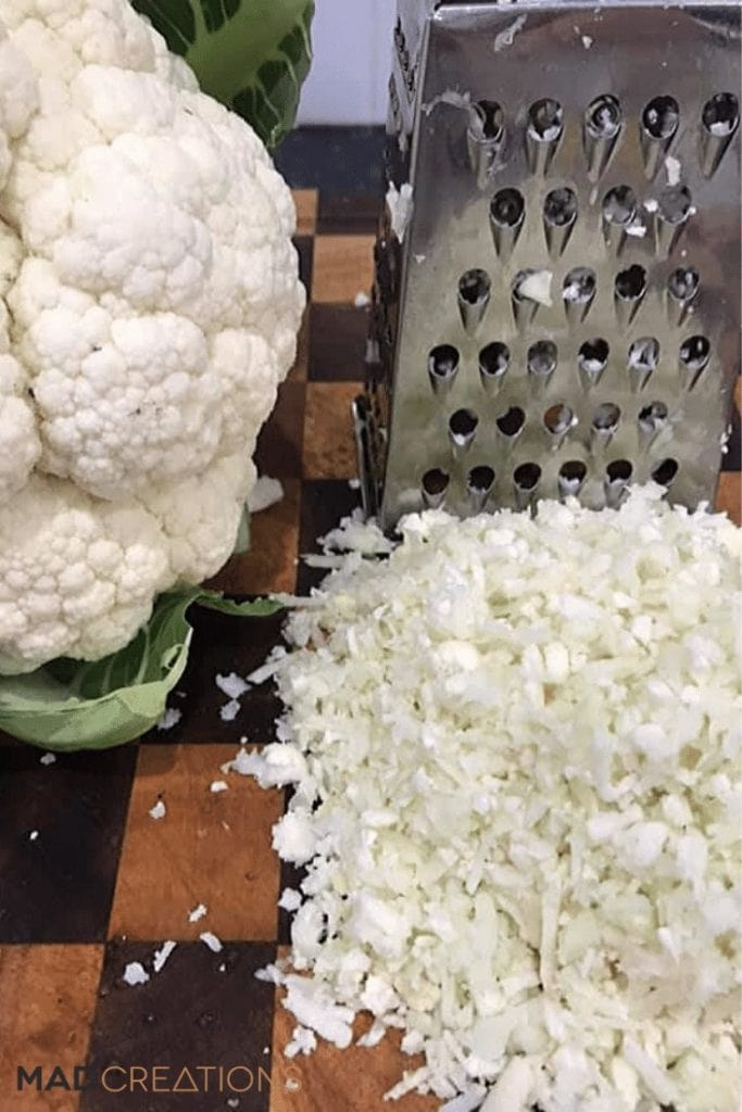 grated cauliflower rice