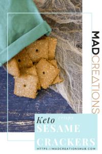 Crispy Keto Sesame Crackers banner