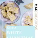 keto white christmas on plates on light blue table