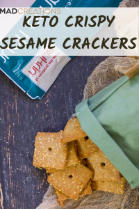 Keto crackers pinterest banner