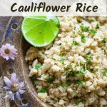 Cauliflower rice pinterest banner