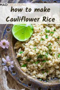 Cauliflower rice pinterest banner