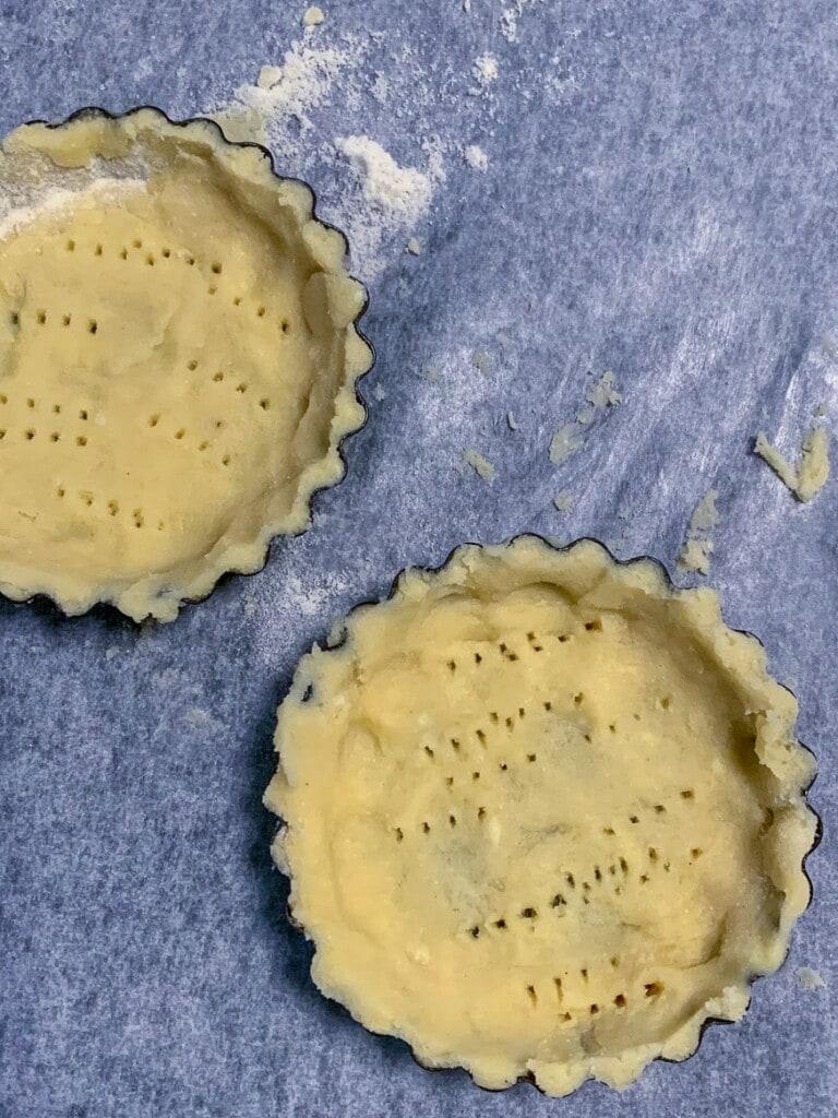 Easy keto pie crust tarts