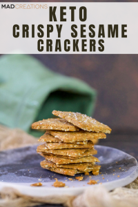 Keto crackers in green bag