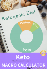 keto macro calculator image on book with cheese and nuts