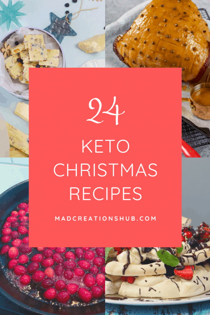 24 Keto Christmas recipes banner