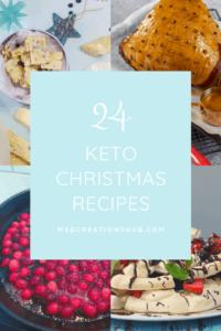 24 Keto Christmas recipes banner