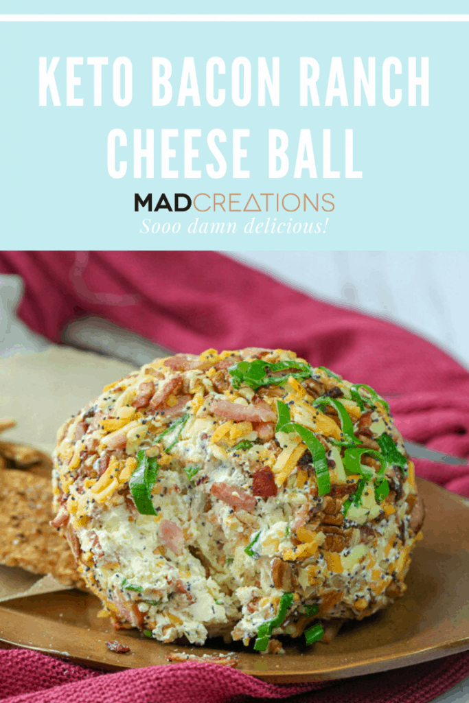 Cheese ball on a brown plate