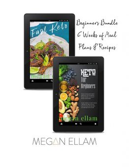 Keto Beginners Meal Plan Bundle on 2 ipads
