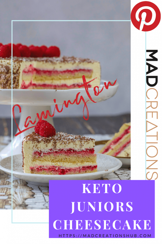 Keto Juniors Cheesecake cheesecake on a plate