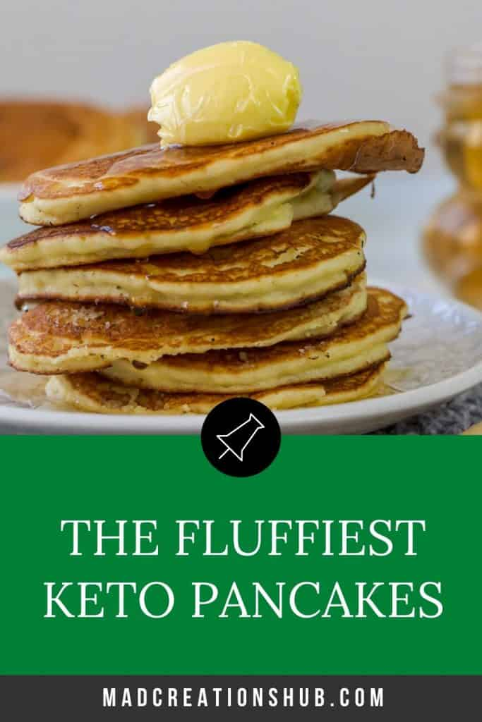 Keto Pancakes with Almond Meal and Coconut Flour Pinterest banner