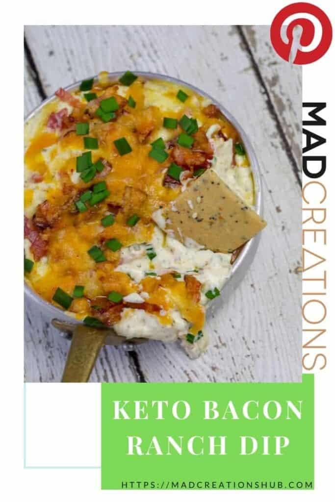 keto bacon ranch dip in a small saucepan