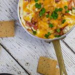 keto bacon ranch dip in a small saucepan