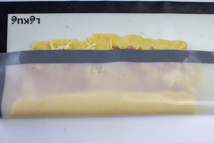rolling scroll dough