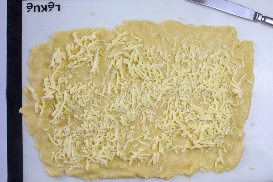 cheese on dough