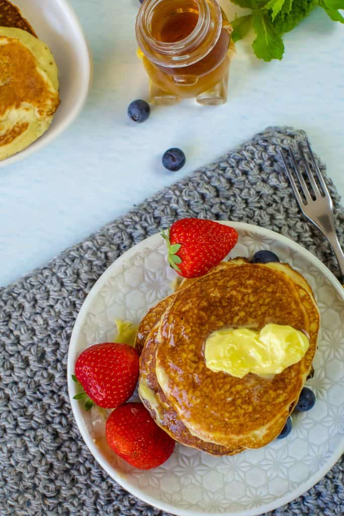 Keto Pancakes with almond meal and coconut flour