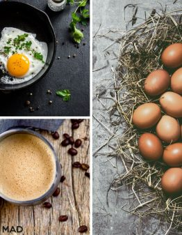 3 different egg fast meals on a banner