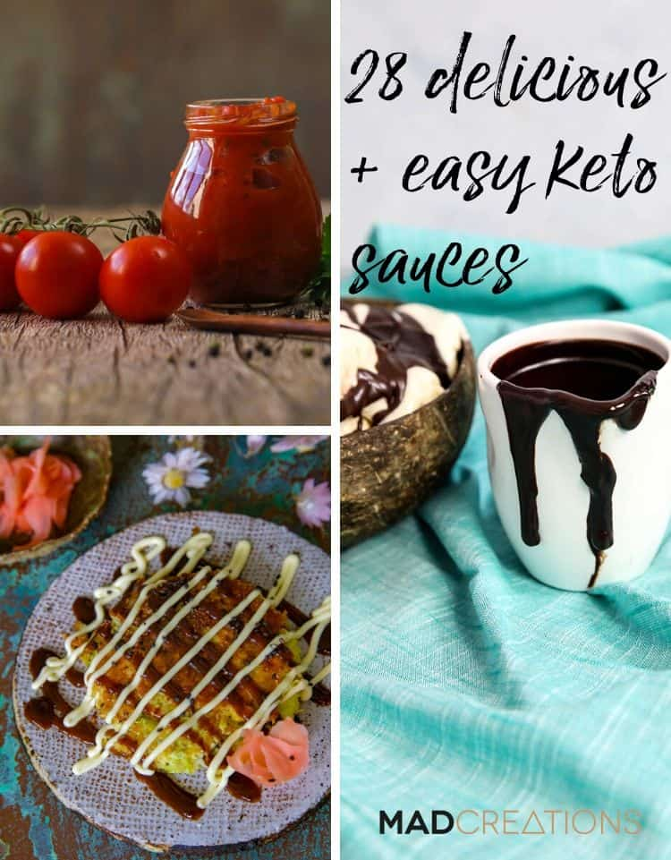28 delicious + easy keto sauces pinterest banner