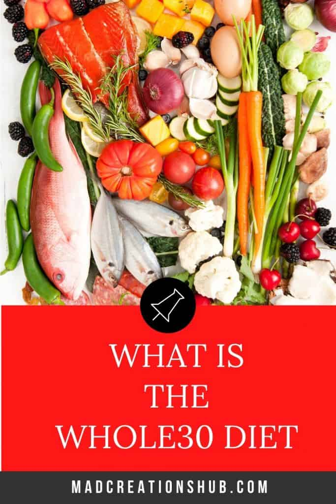 whole30 foods on a pinterest banner