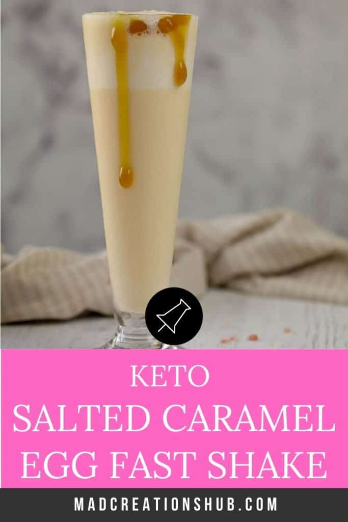 Salted Caramel Keto Egg Fast Shake in a tall glass