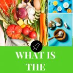 fruit and vegetables on a pinterest banner