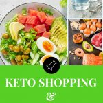 3 images of keto foods on a pinterest banner