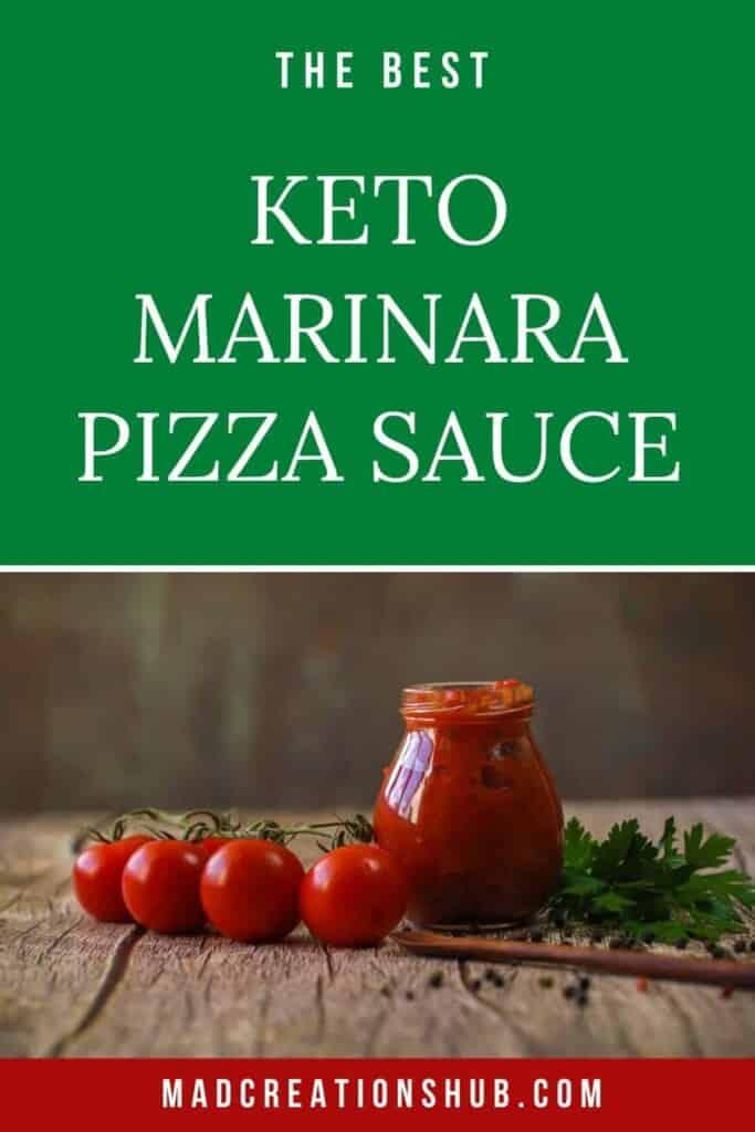 Keto Marinara Pizza Sauce pinterest banner