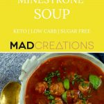 bowl of minestrone soup with basil on top