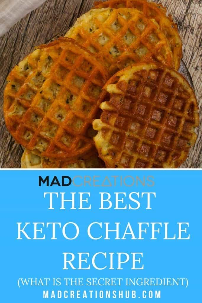 chaffle stacked on plates