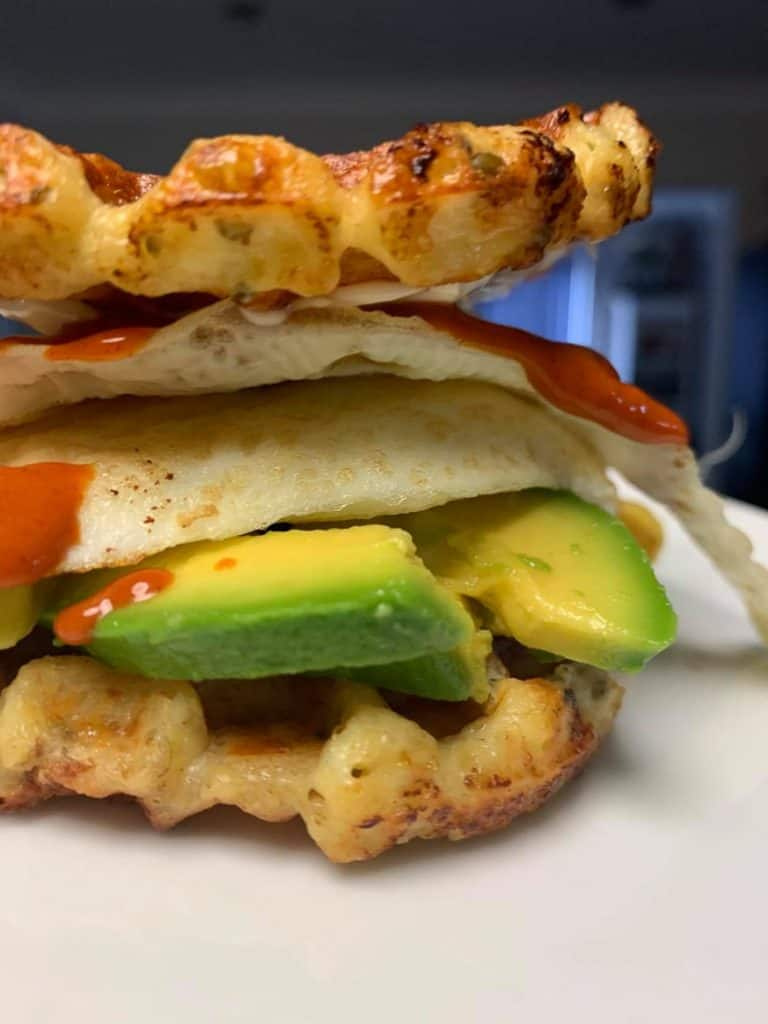 best chaffle recipe burger with avocado