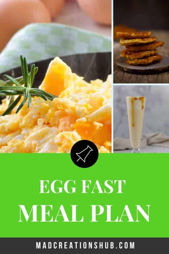 Egg Fast Meal Plan pinterest banner