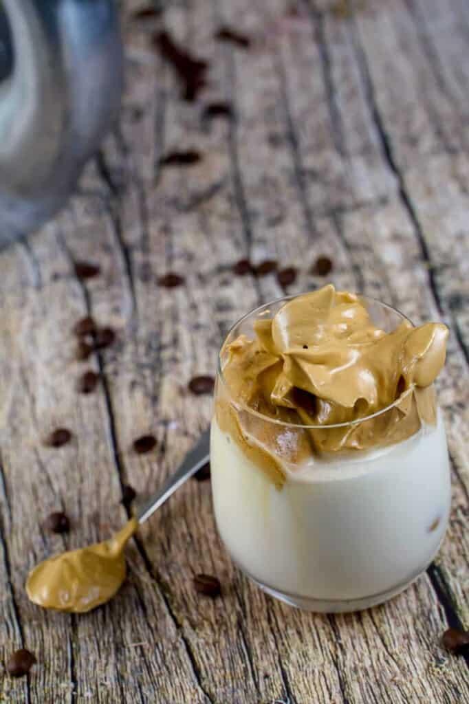 keto milk with dalgona coffee
