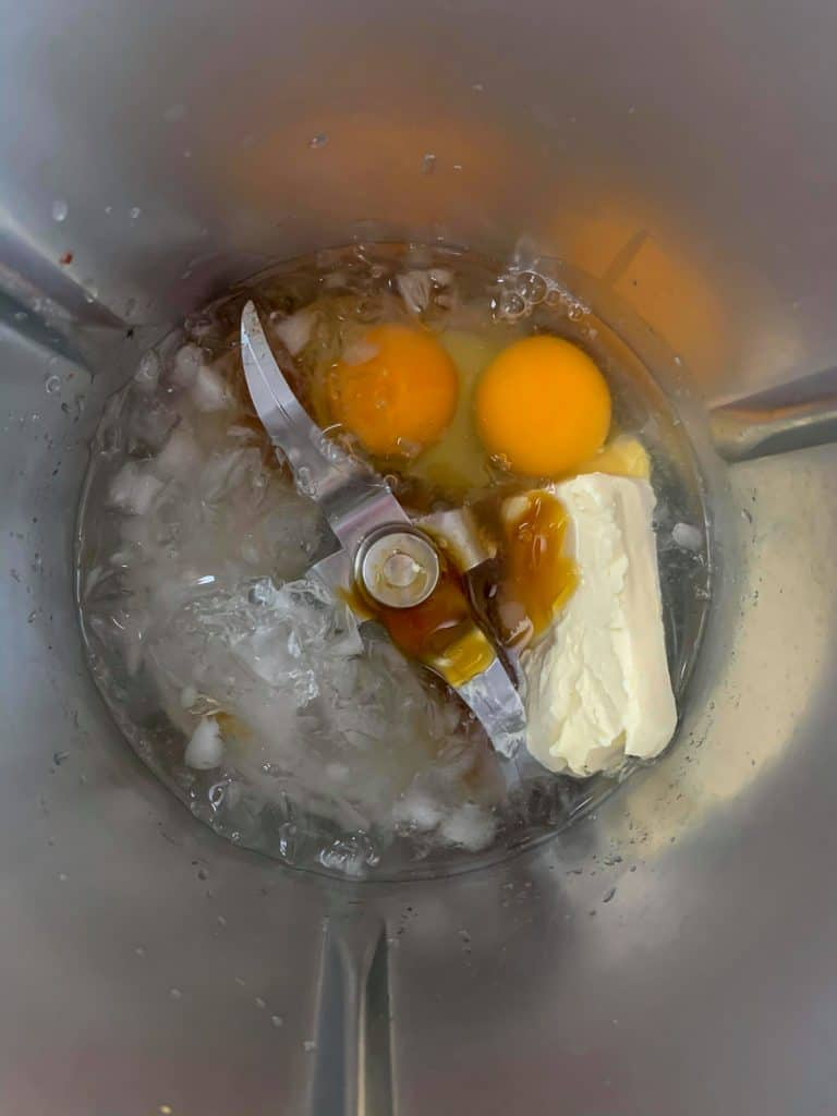 egg shake ingredients inside thermomix bowl