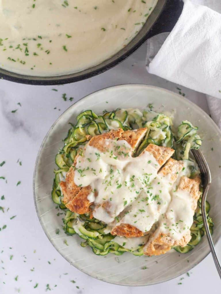 delicious and easy keto sauce recipes on a piece of chicken