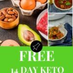Free Keto Meal Plan Pinterest banner