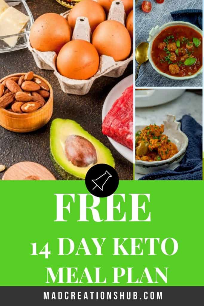 Free Keto Meal Plan Pinterest banner