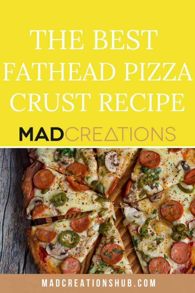 fathead pizza on a cutting board