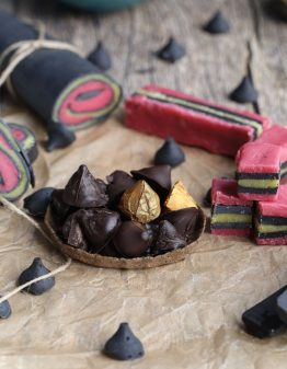 licorice bullets in a small bowl