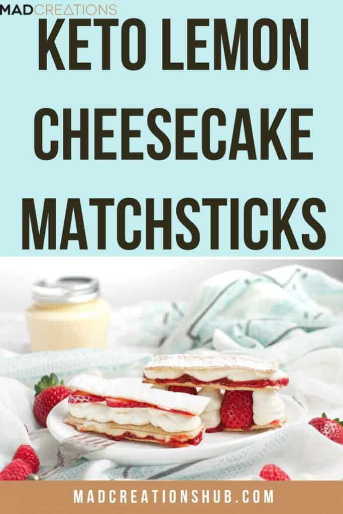 keto cheesecake matchsticks recipe pinterest banner
