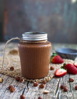 jar of keto nutella with berries on the side
