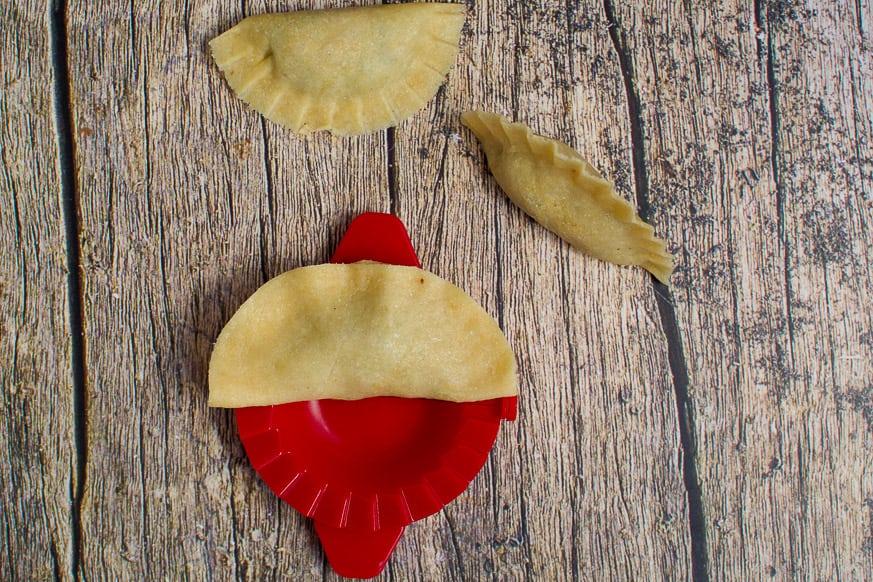 dumpling in a press