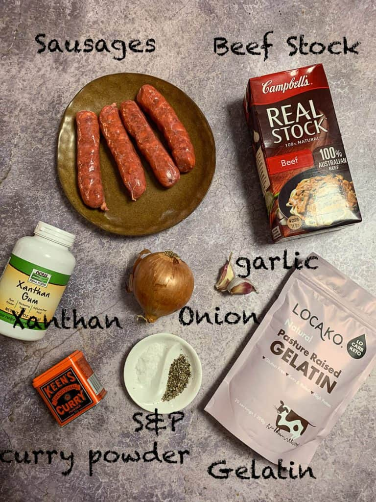 curried sausage ingredients