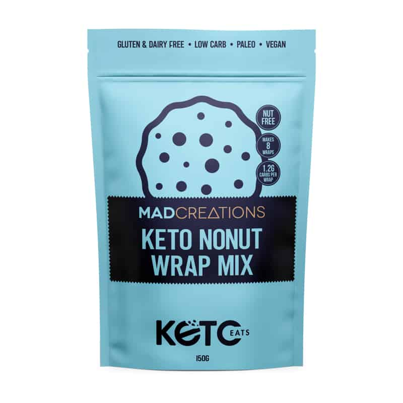 Keto Nonut Wrap Mix blue and black packet