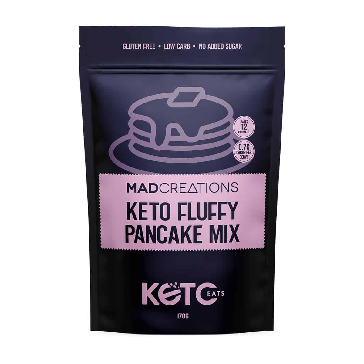 Keto Fluffy Pancake Mix packet.